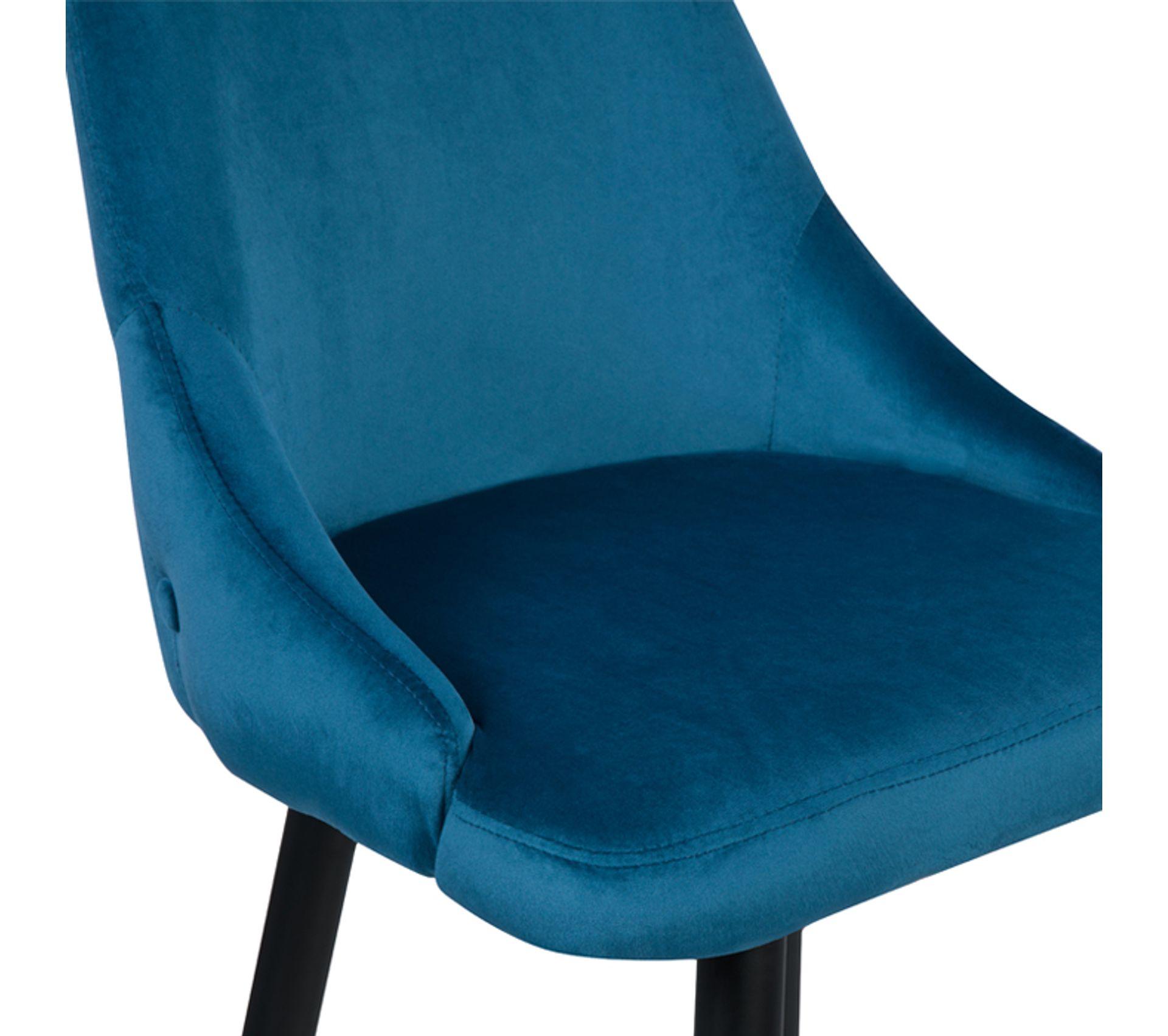 Chaise De Bar Aristote En Velours Bleu 77.5 Cm (lot De 2)