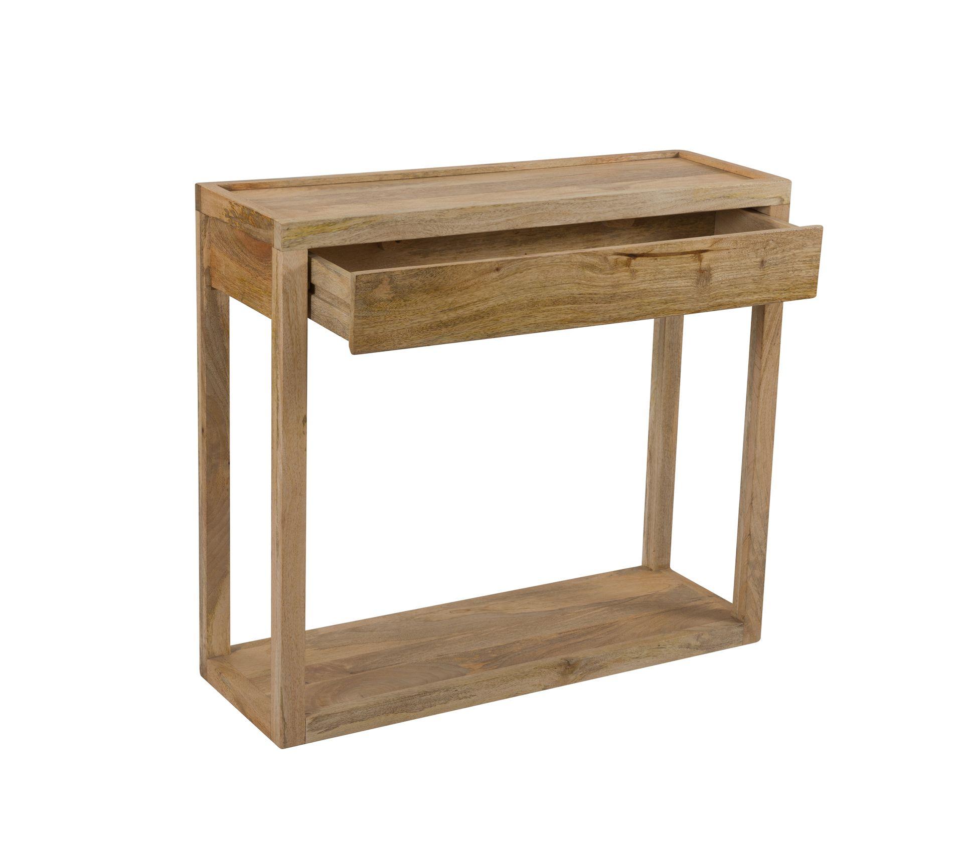 Console Gloria En Bois Naturel Table Console But