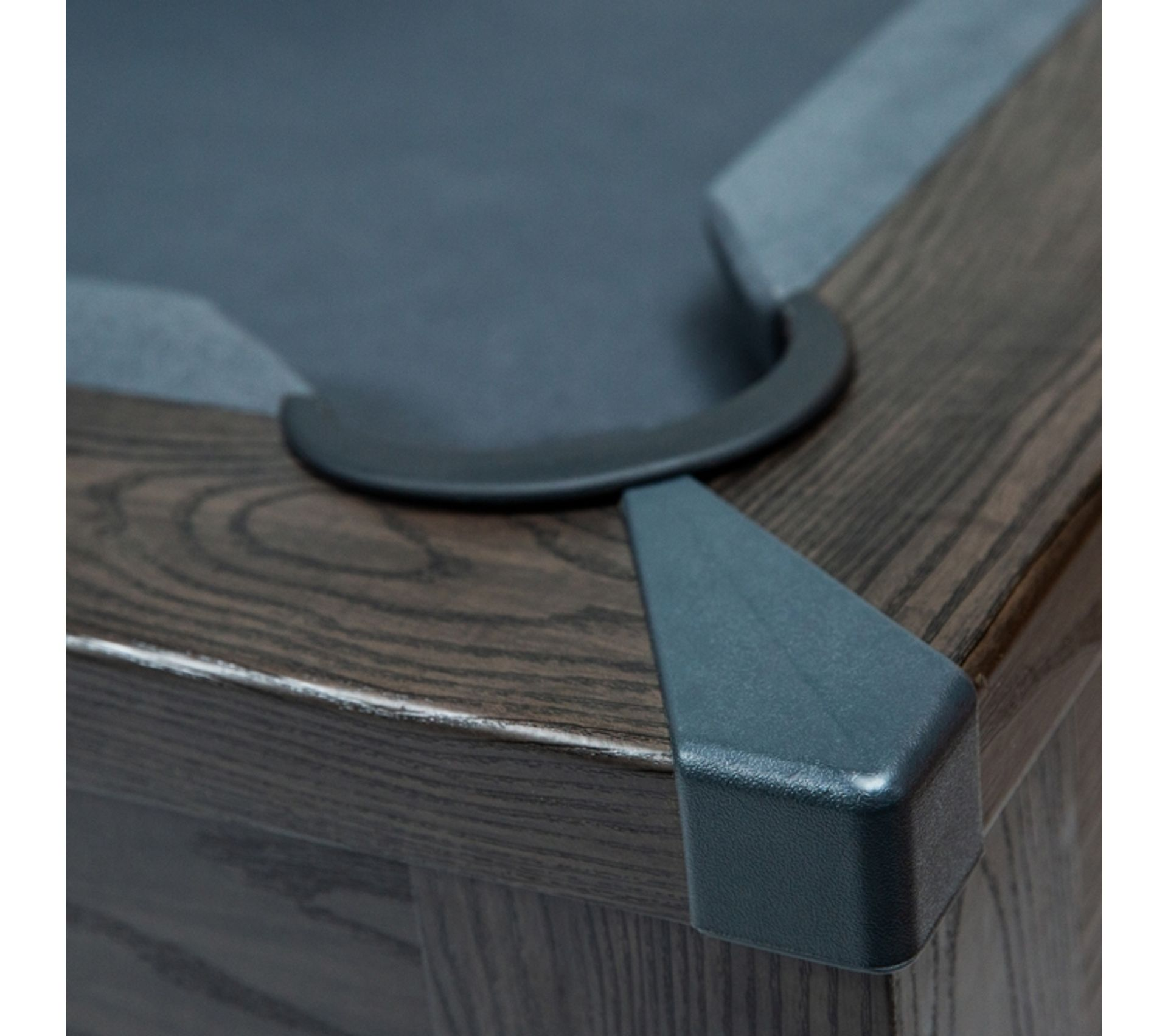 La Chaise Longue Billard table de billard rectangulaire convertible bois foncé tapis gris