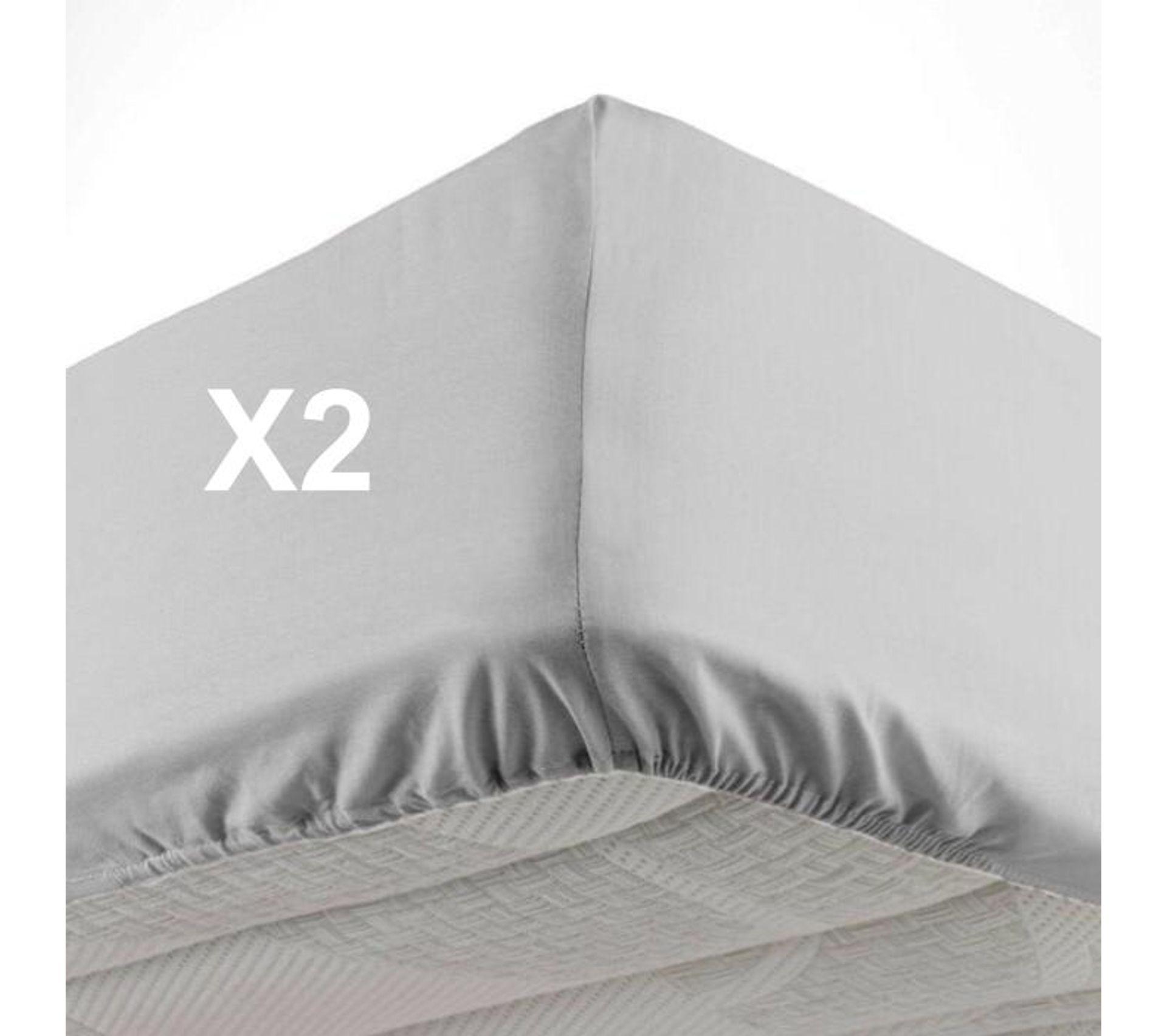 Drap Housse 140x190//200cm Microfibre Gris Lit Chambre
