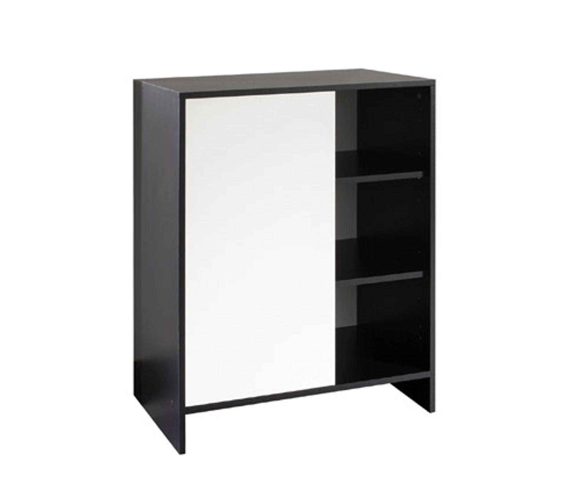 Etagere Murale Micro Onde buffet micro-onde lucien noir et blanc largeur 71cm