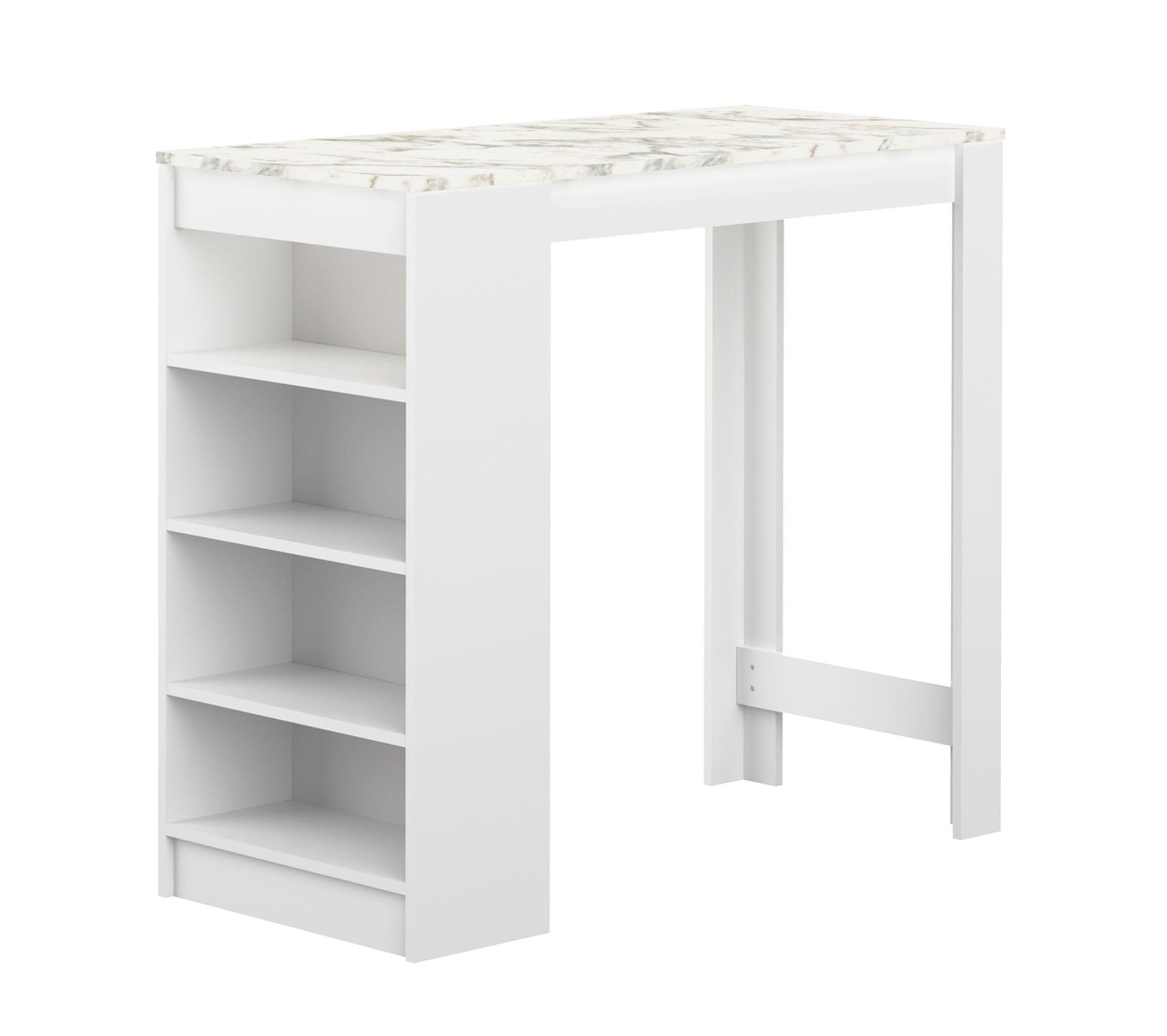 Meuble Mini Bar D Angle meuble bar aravis blanc et marbre 115 x 102,7