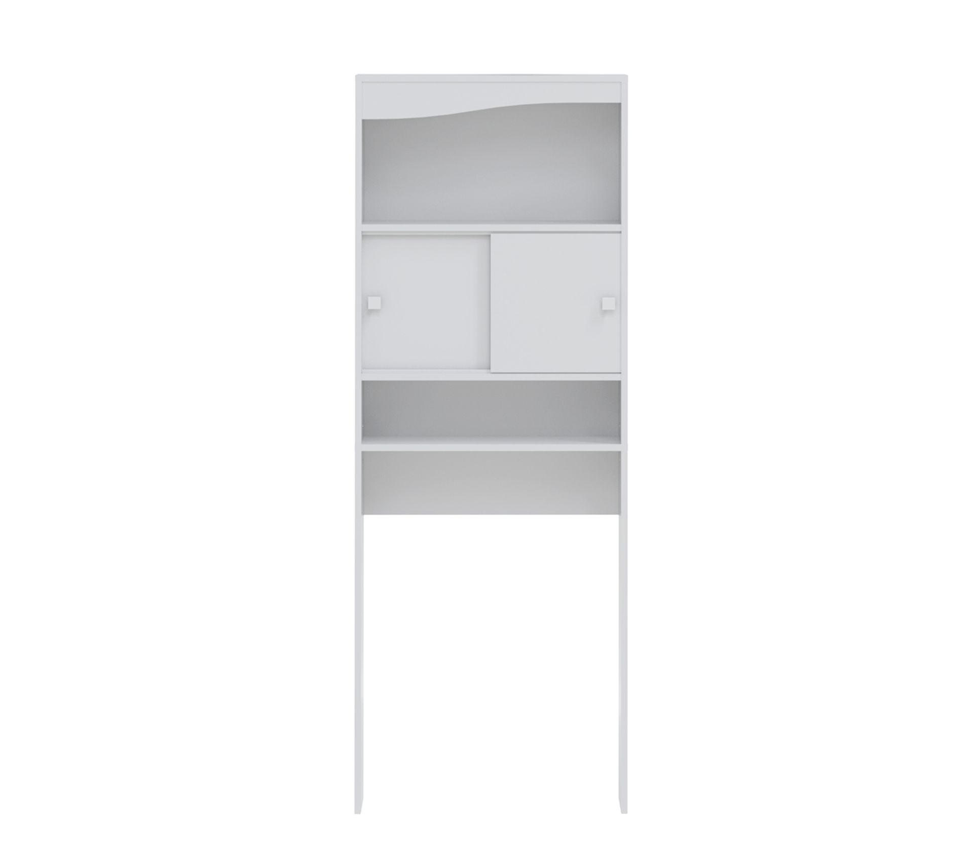 Meuble Wc Ou Machine A Laver L 64 Cm Blanc Mat Meuble Wc But