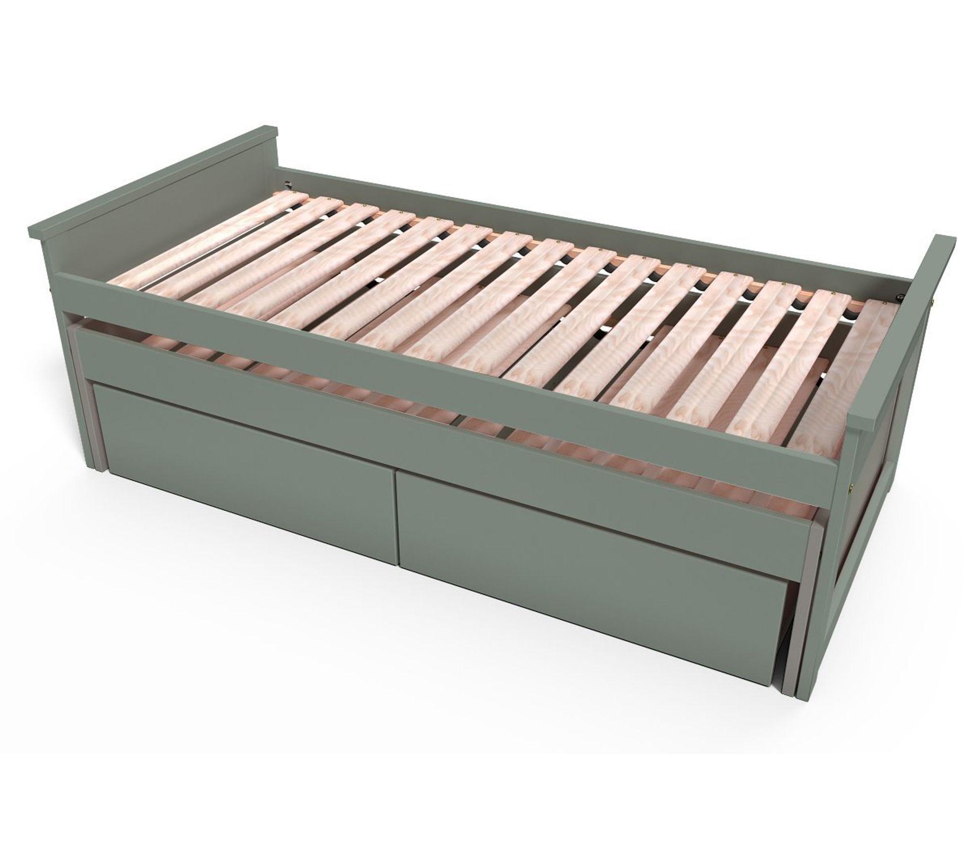 lit gigogne maxi 90 x 200 cm tiroirs couleur gris dimensions 90x200
