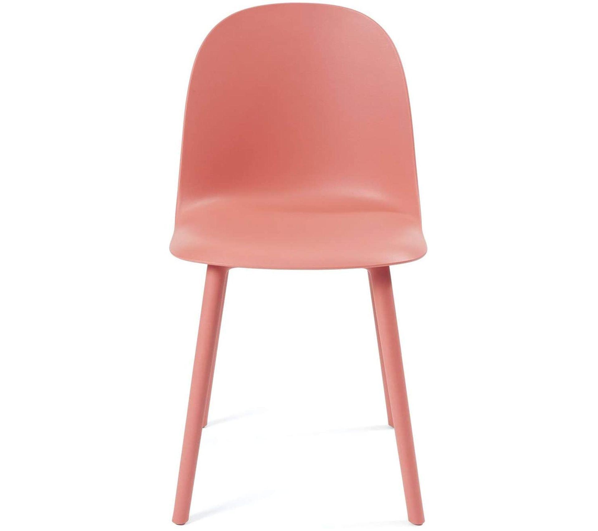 lot de 2 chaises cuisine design interieur extrerieur ufi rouge
