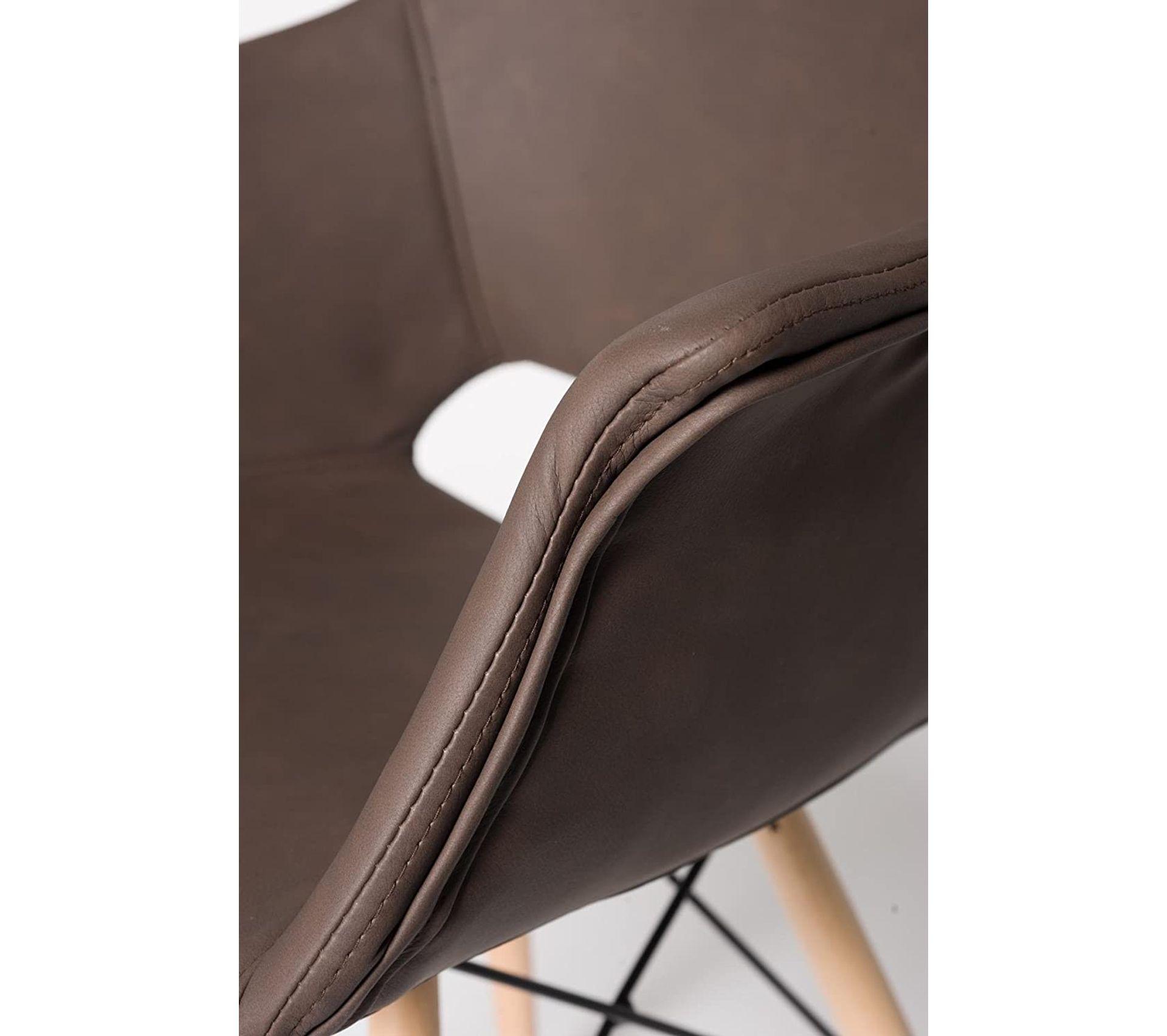 Cognac KAYELLES Lot de 2 Chaises Design Soho