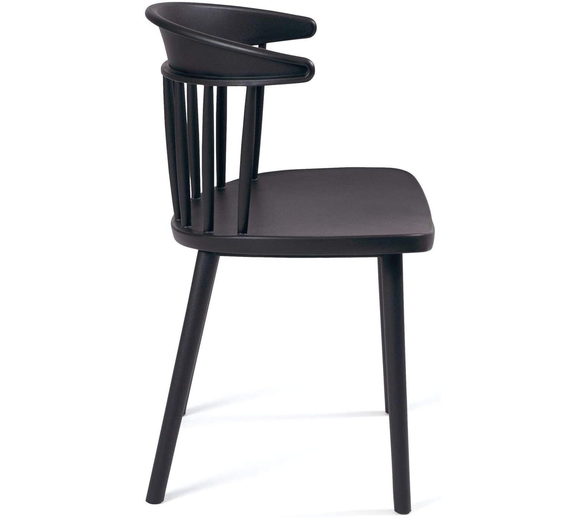 Lot de 2 Chaises de Cuisine à barreaux style windsor DIA ( (noir)
