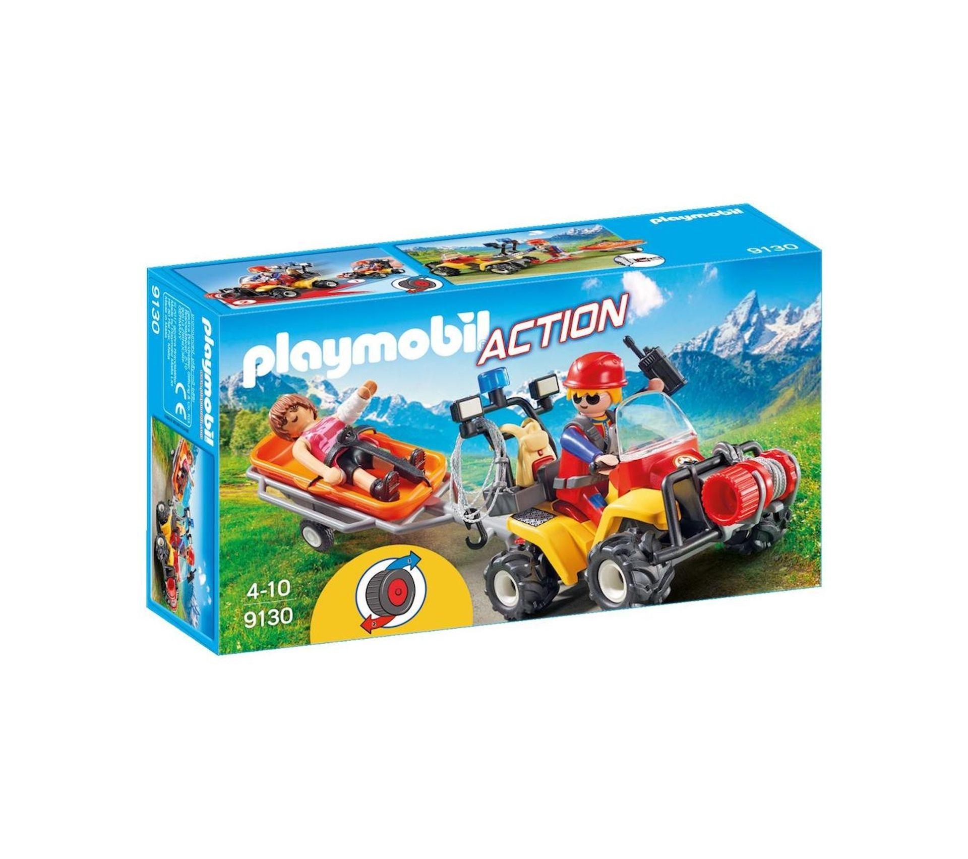9130 Secouriste Des Montagnes Avec Quad Playmobil City Action