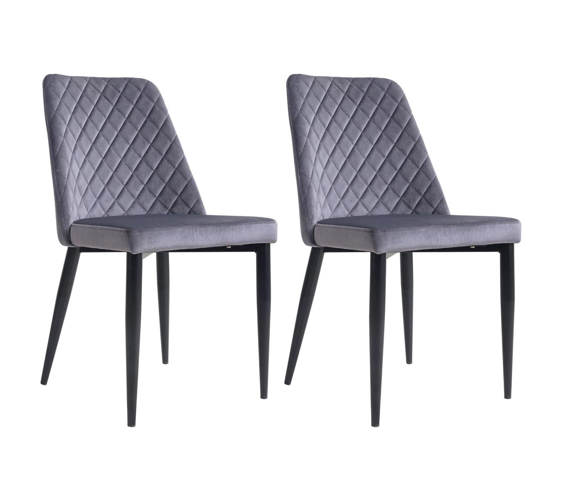 Matériel De Tapissier D Occasion lot de 2 chaises zamora, en velours gris
