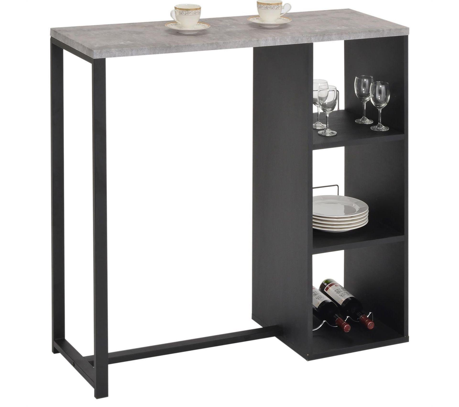 Table Haute De Bar Piava Decor Beton Bar But