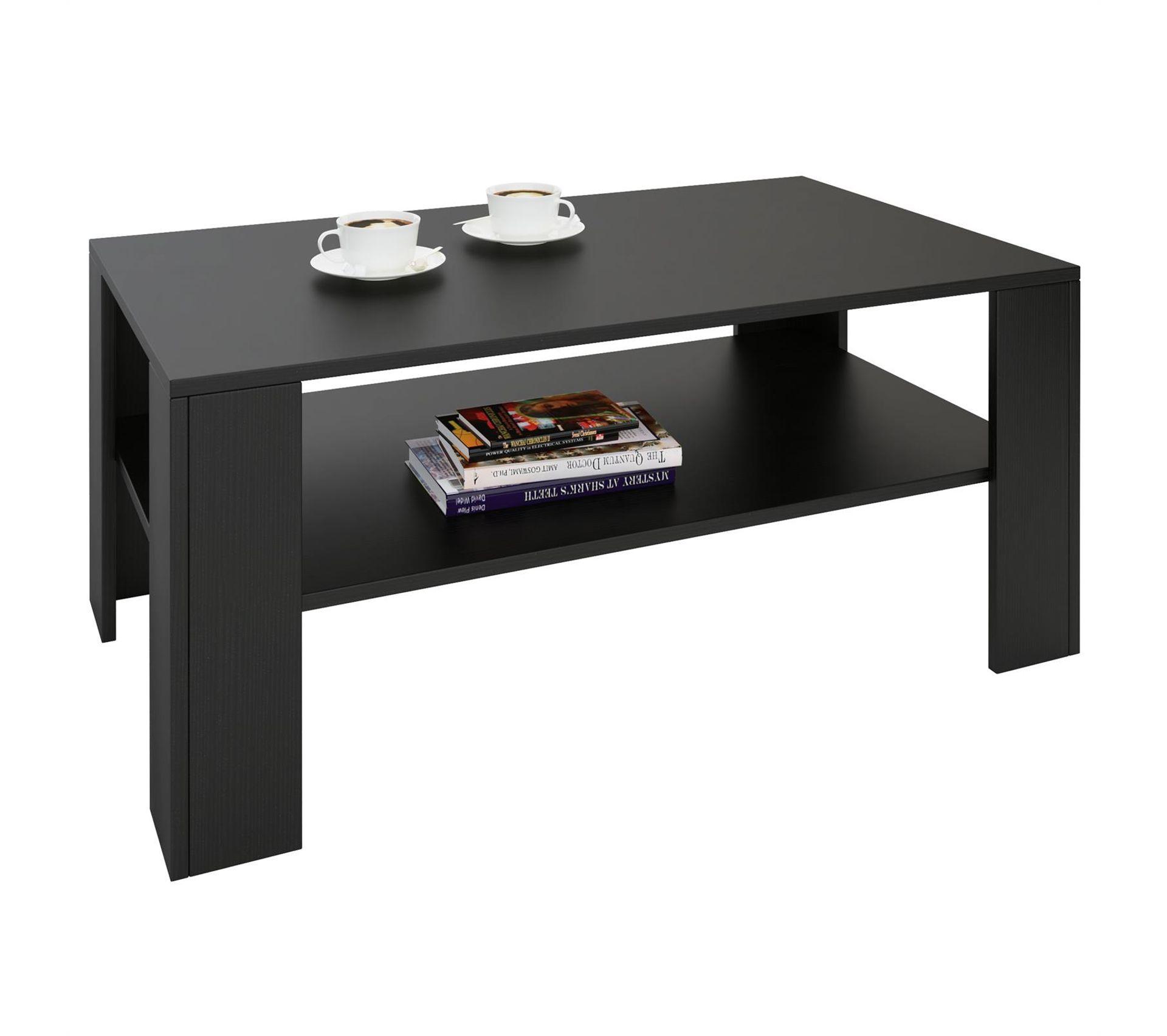 Panneau Melamine Noir Mat table basse lorient, en mélaminé noir mat