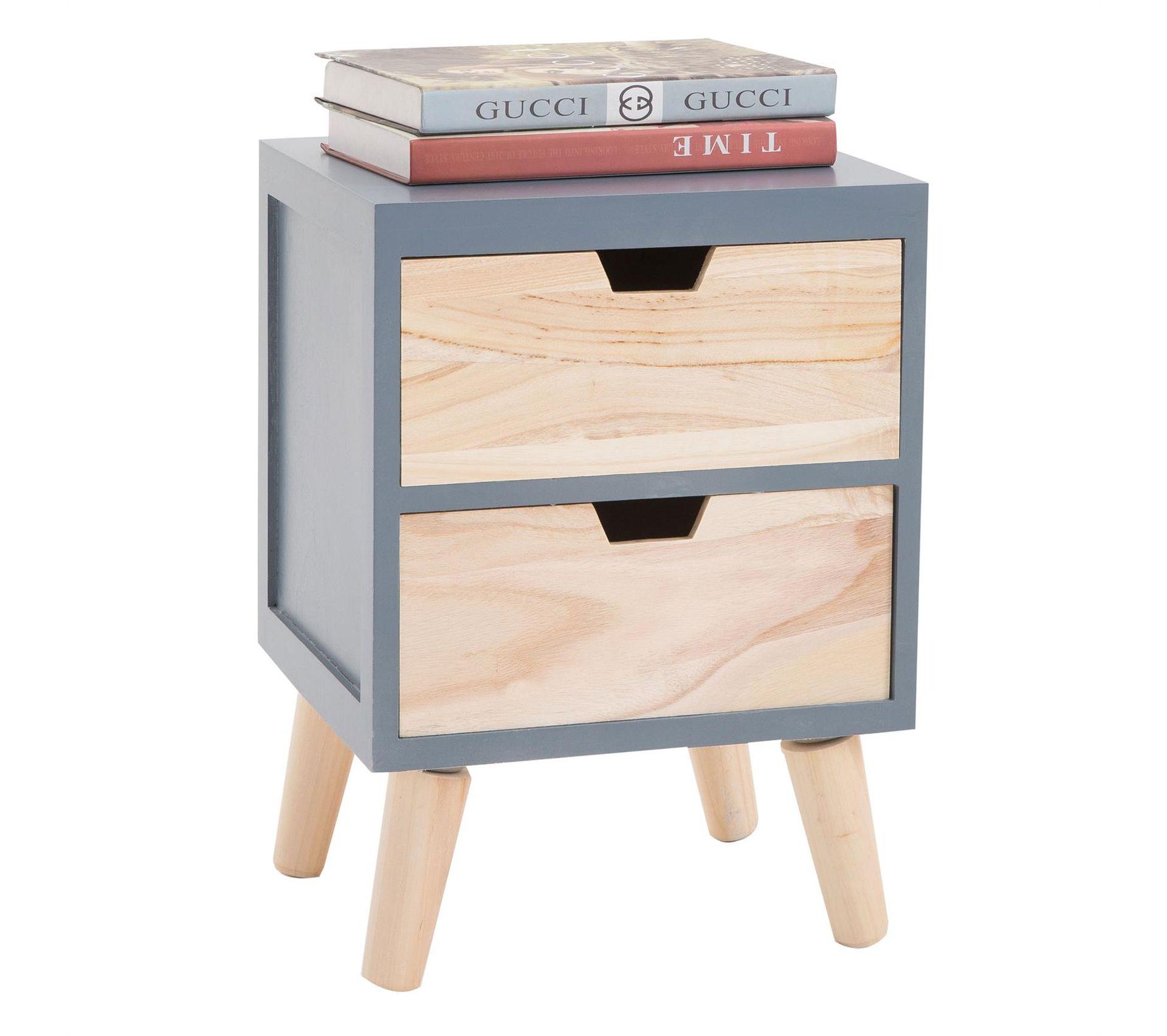 Table De Chevet Miroir Pas Cher table de chevet bahia, 2 tiroirs, gris