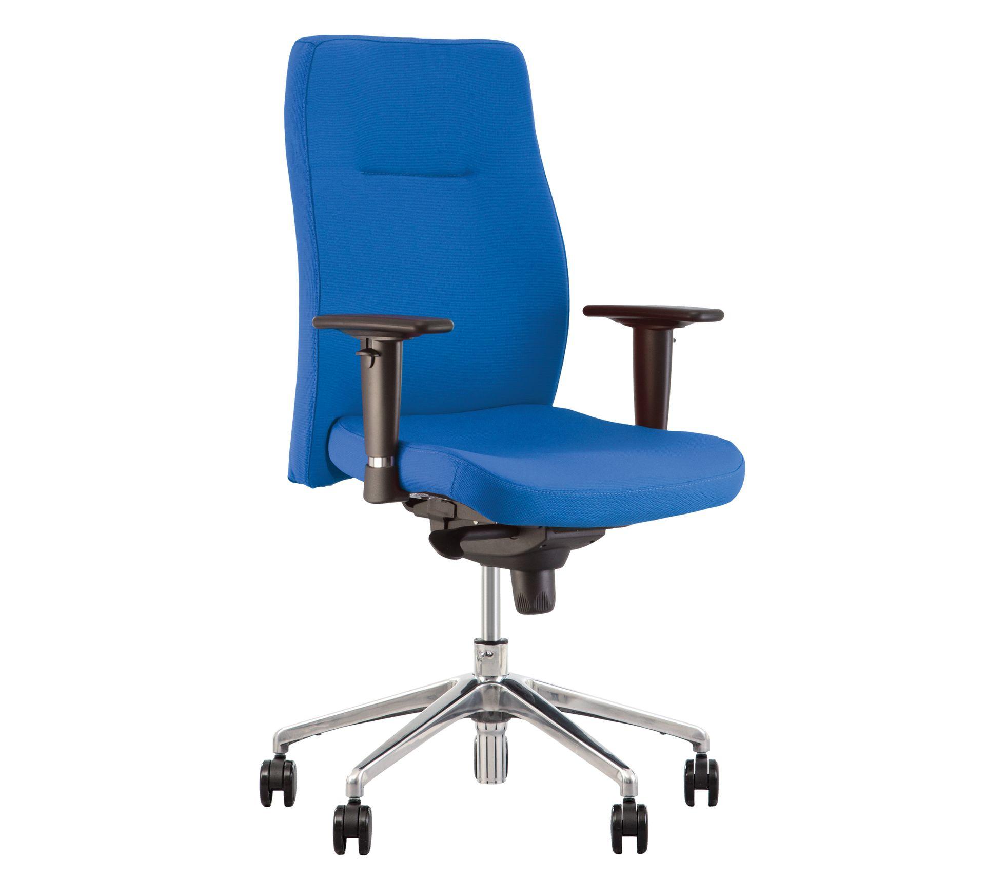 Orlando- Fauteuil, Chaise De Bureau Synchrone, Ergonomique. Bleu.