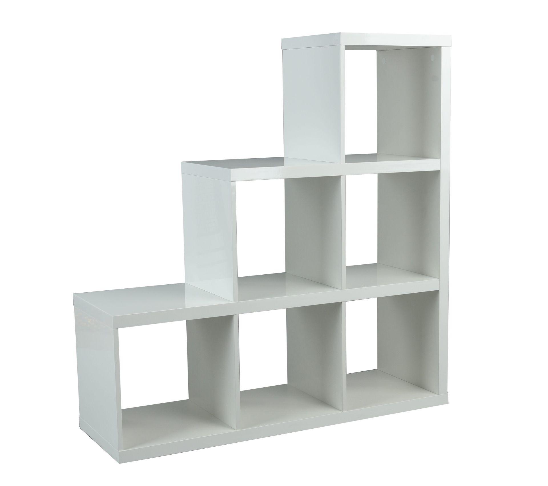 Separation Escalier Next 2 Blanc Laque Bibliotheque Et Etagere But