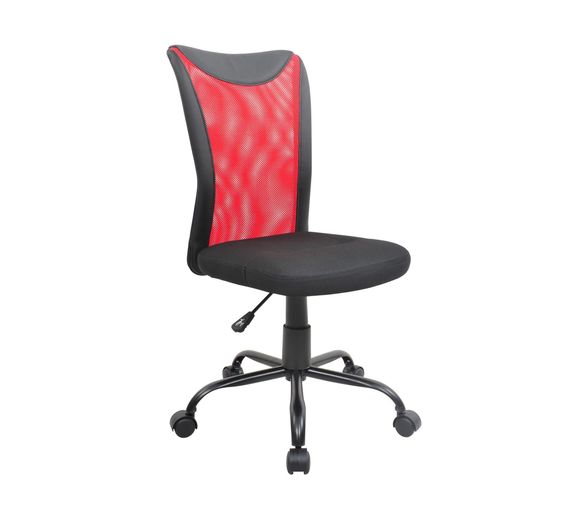 Fauteuil De Bureau Comett Noir Rouge Chaise Fauteuil Bureau But