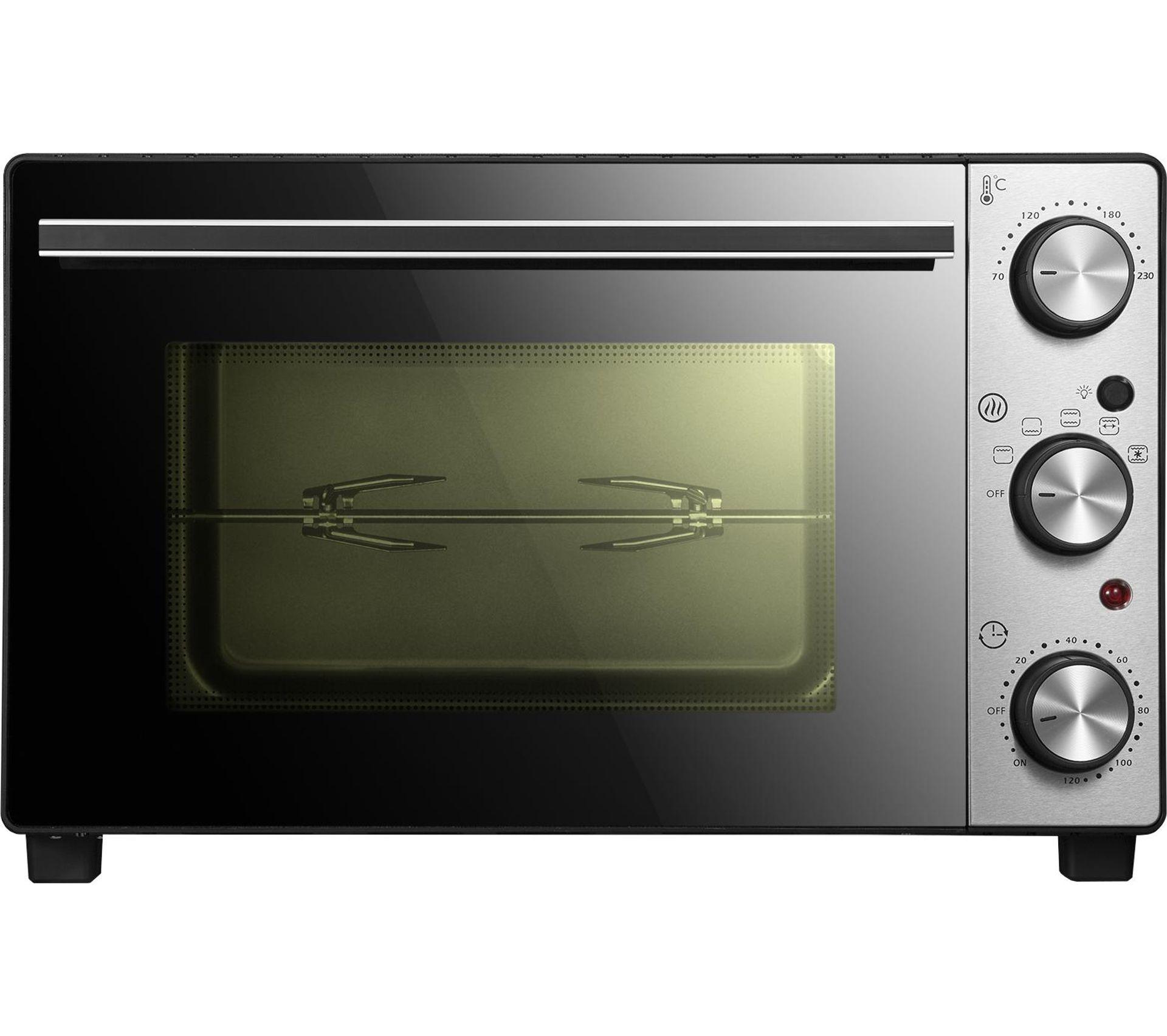 Four A Chaleur Brassee mini-four 35 litres chaleur brassé autonettoyant avec rôtisserie noir  chef350lux-n