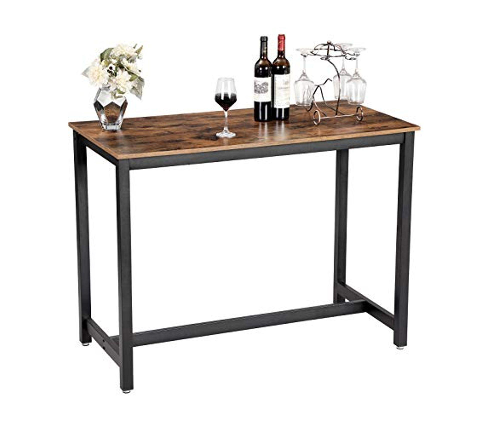 Table Haute De Bar Table A Manger Cadre En Metal Table Haute Et Mange Debout But