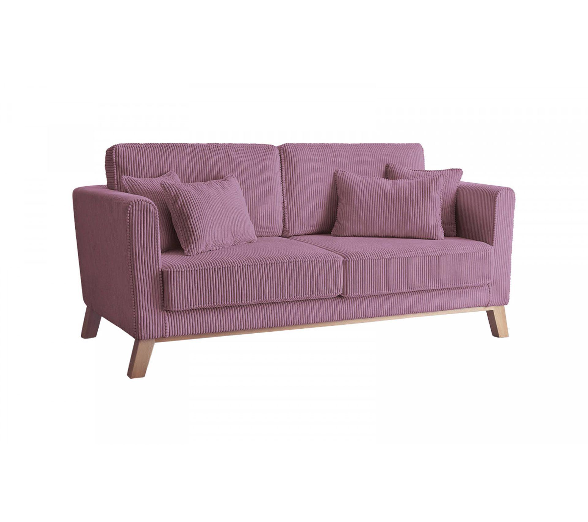 Canapé En Velours Cotelé bobochic canapé droit velours côtelé doblo violet