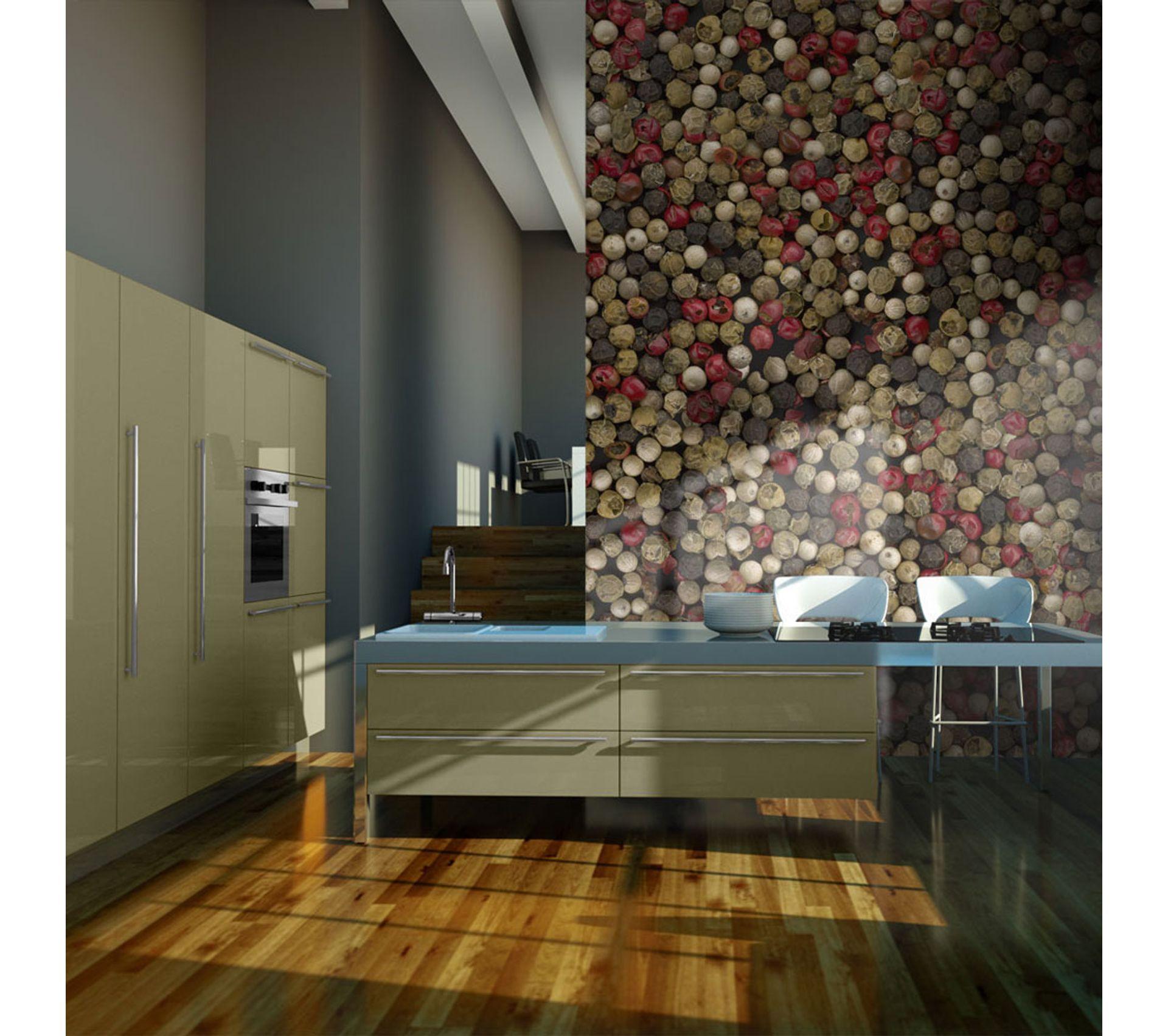 Papier Peint Pour Cuisine 200x154 papier peint motifs de cuisine admirable poivre en