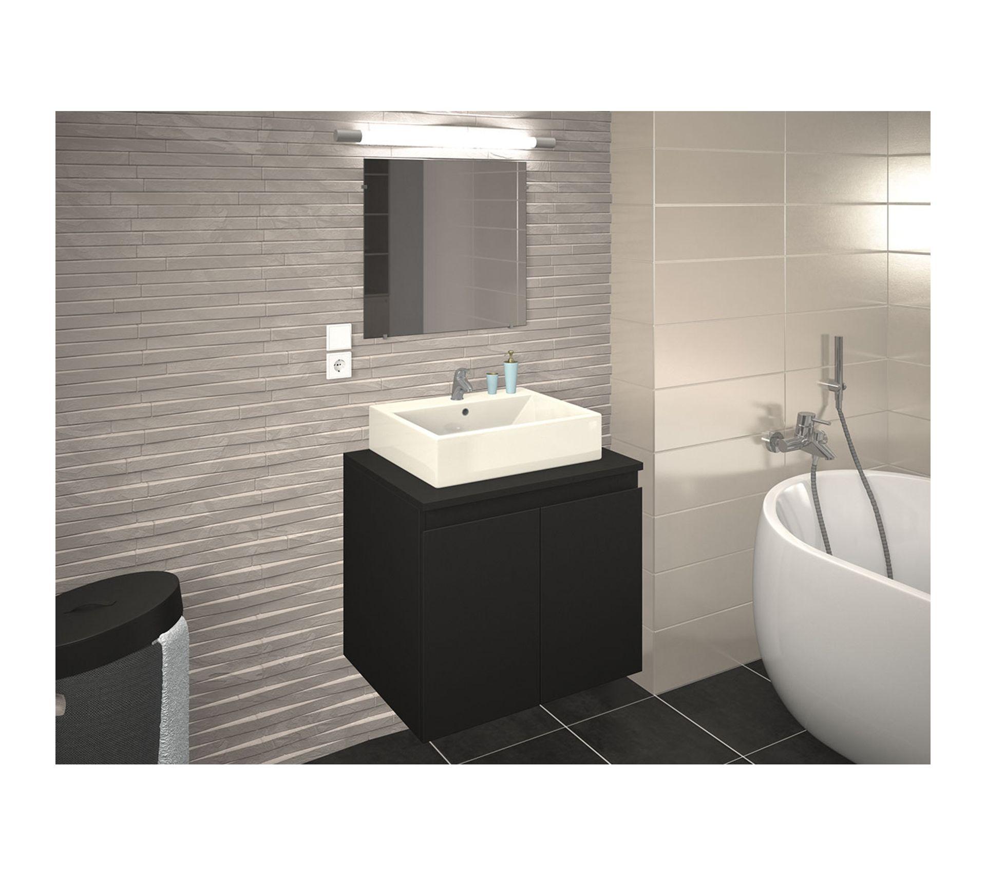 Meuble De Salle De Bain Osier meuble de salle de bain en 60 cm avec vasque