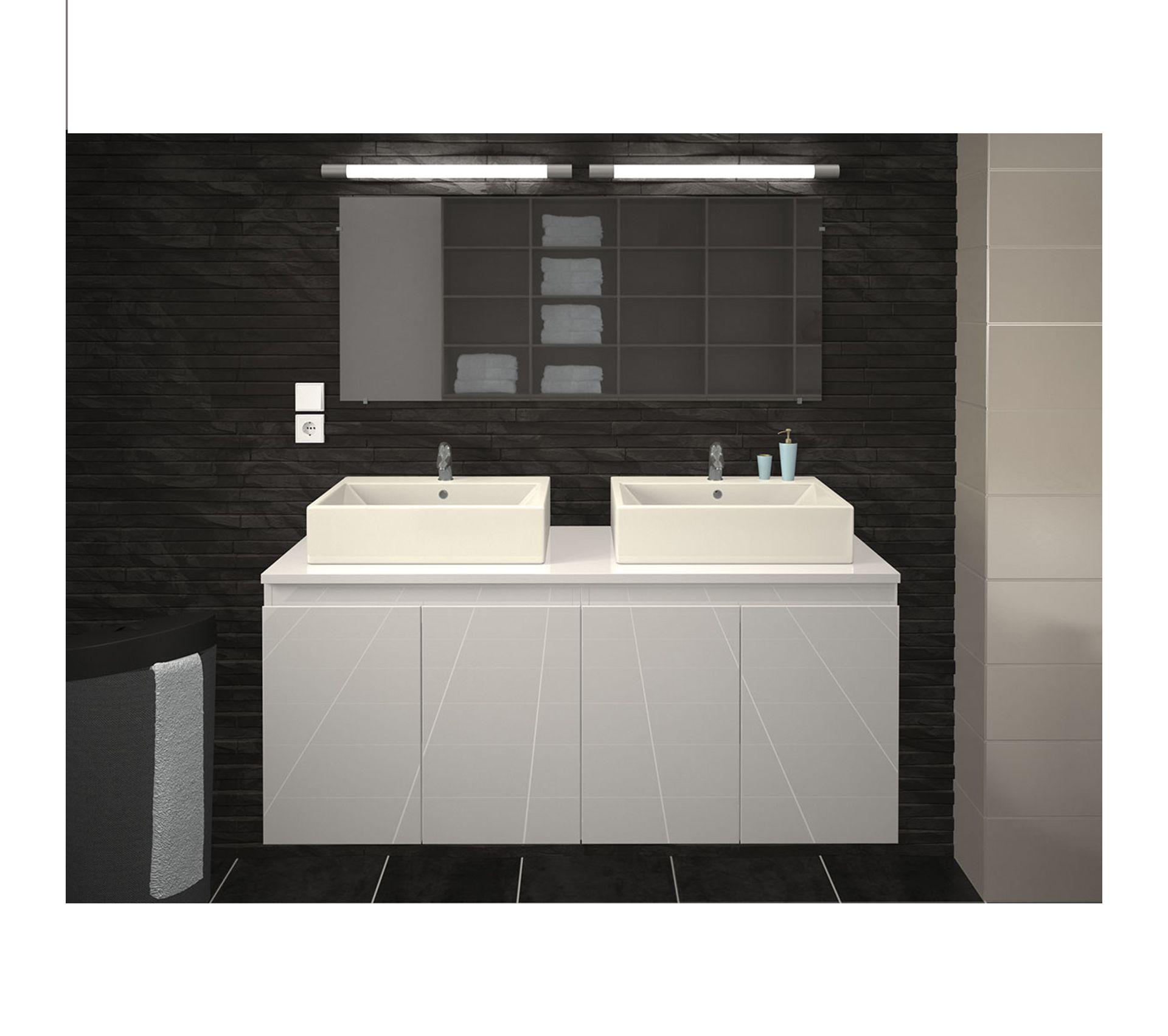 Etagere Pour Vasque A Poser meuble et double vasques de salle de bain en 120 cm