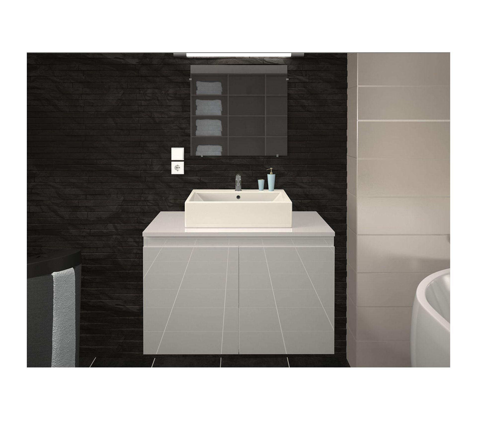 Tablette Salle De Bain 80 Cm meuble et vasque de salle de bain en 80 cm