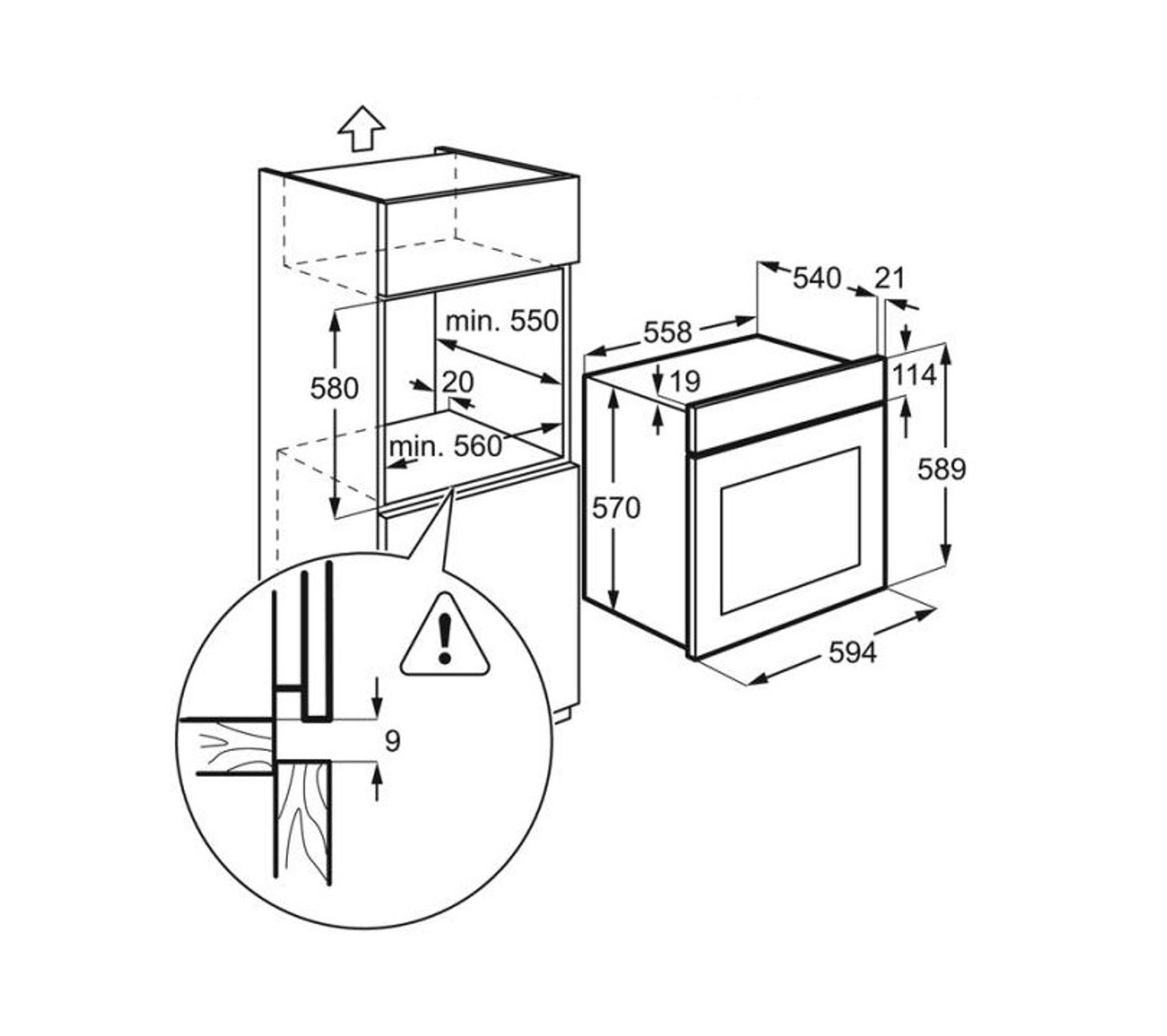 Différence Entre Chaleur Tournante Et Pulsée four - chaleur tournante pulsée - pyrolyse - bandeau métal - ezc3400dox