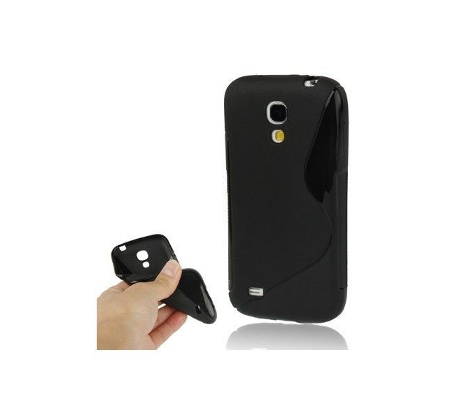 Coque Etui Silicone S-line Noir Pour Samsung S7390 Galaxy Trend Lite