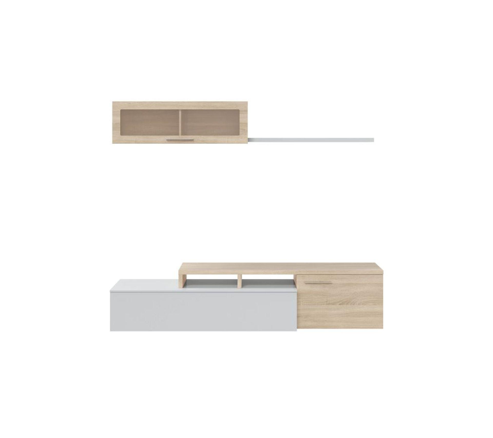 Meuble Tv Bibliothèque Blanc ensemble meuble tv dangle ou droit nexia bois et blanc