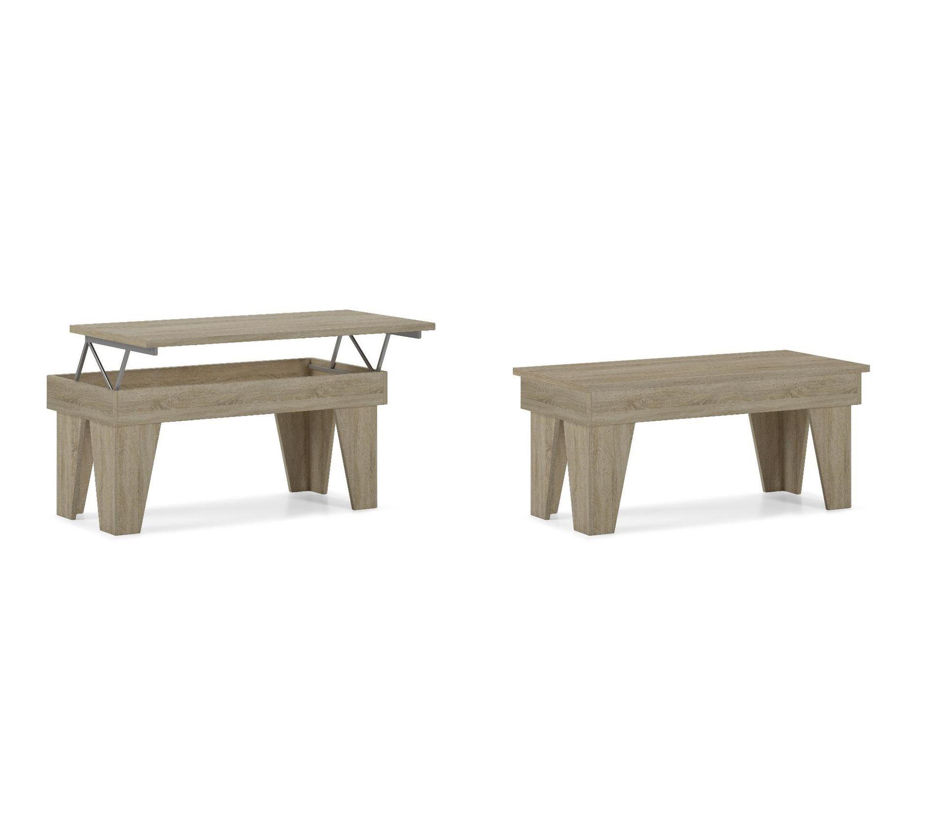 Table Basse Relevable, Kl,chêne Clair