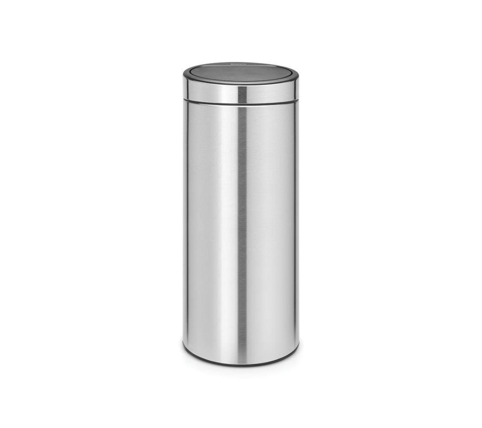 Poubelle Touch Bin Matt Steel Anti Traces De Doigts 30 Litres