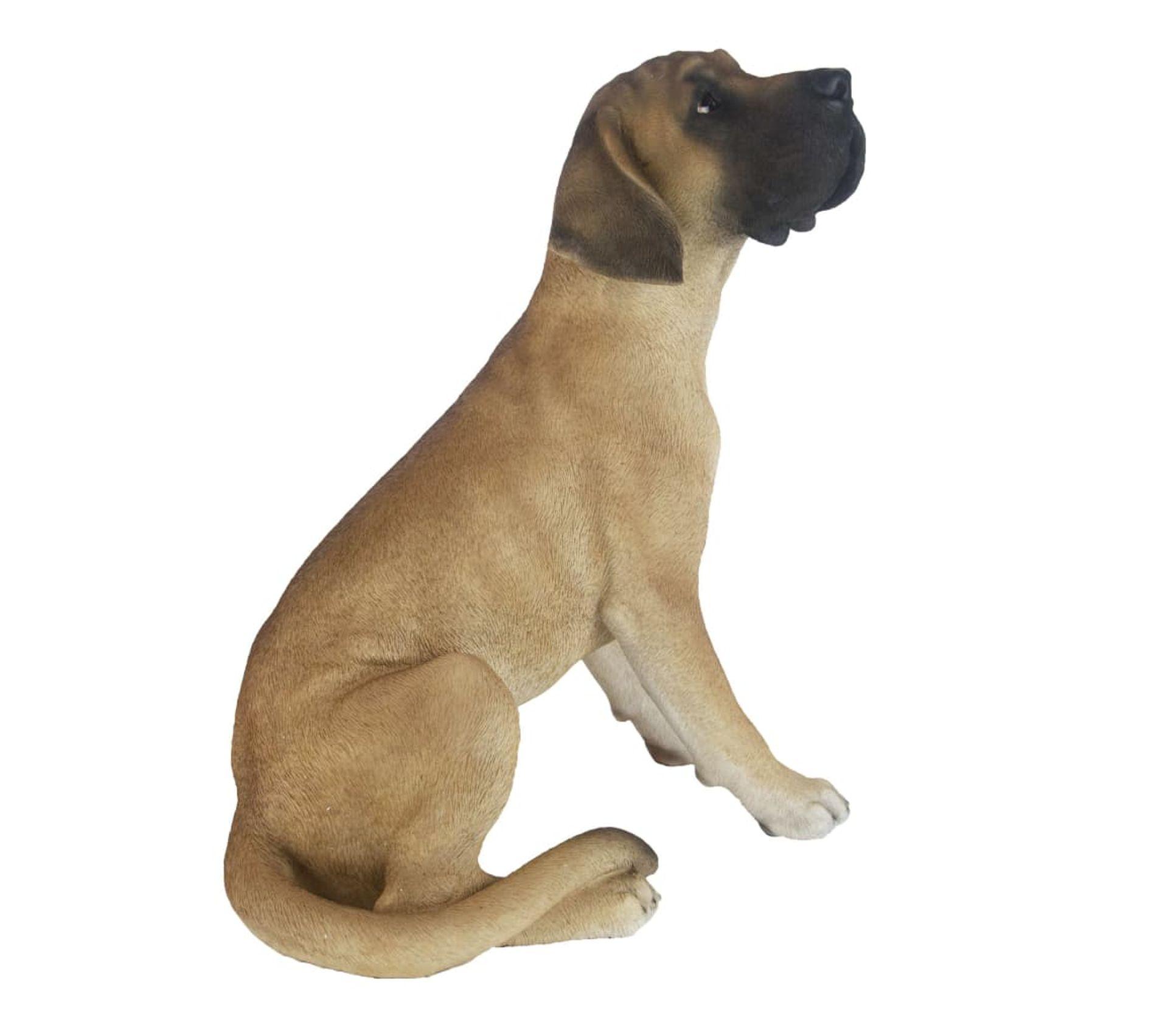Meuble De Salle De Bain Allemand dogue allemand assis en résine 52 cm