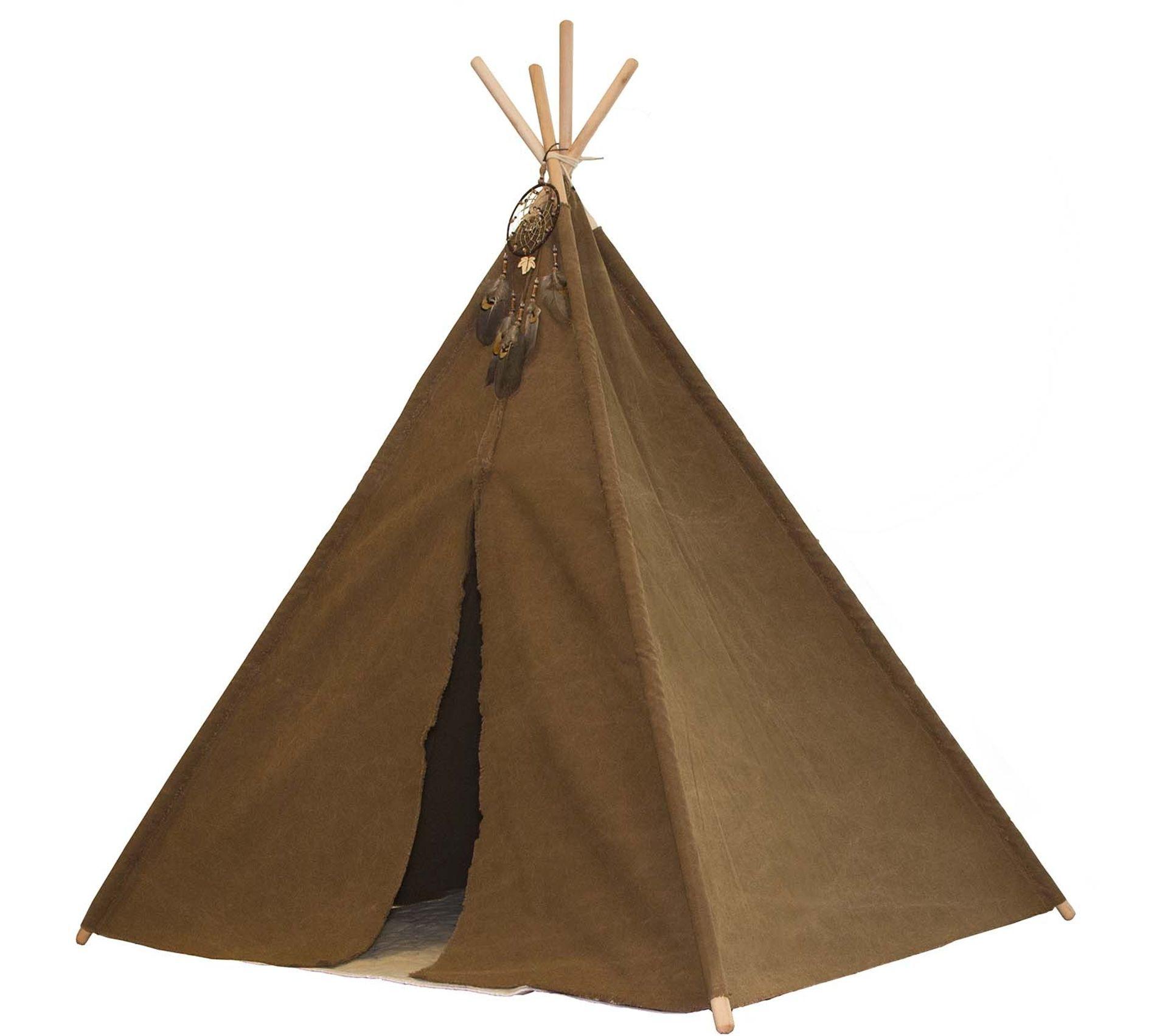 Couture Tapis De Sol Bébé tipi enfant bois et tissu avec tapis de sol indian